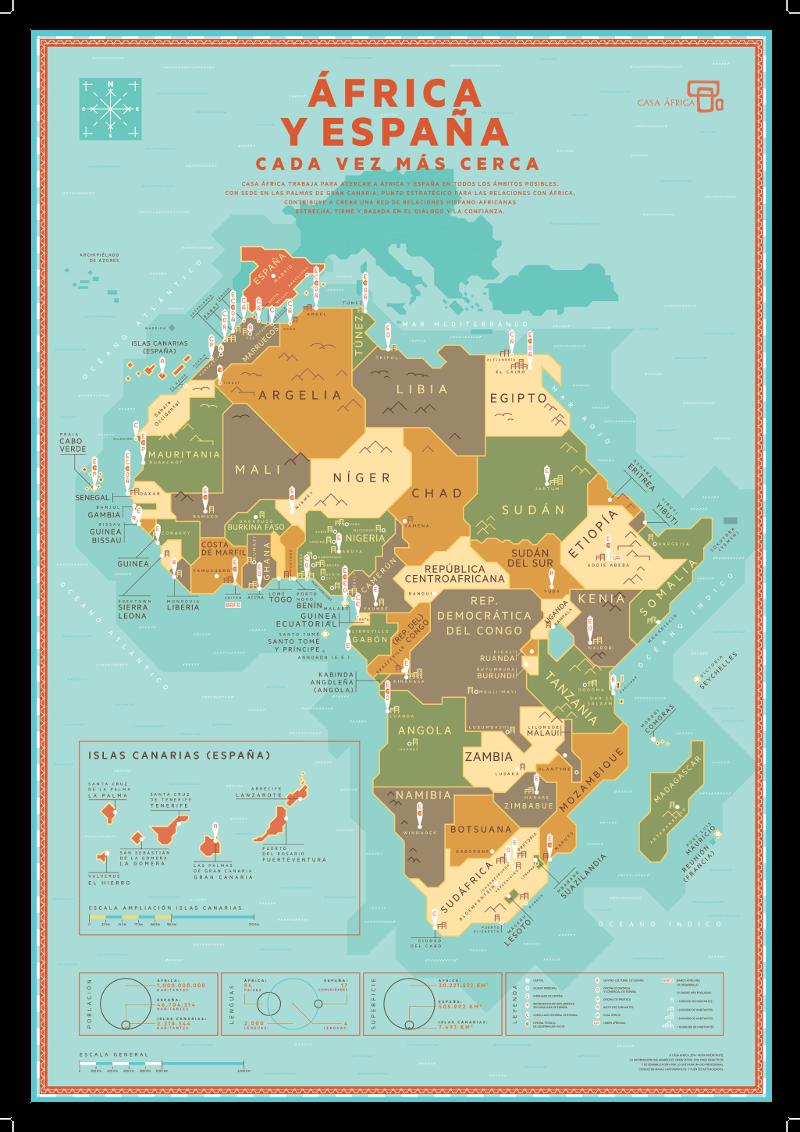 Mapa África y España cada vez más cerca