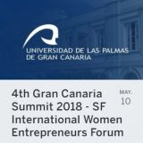 4th Gran Canaria Summit 2018 - San Francisco International Women Entrepreneurs Forum. 10 de mayo en Las Palmas de Gran Canaria