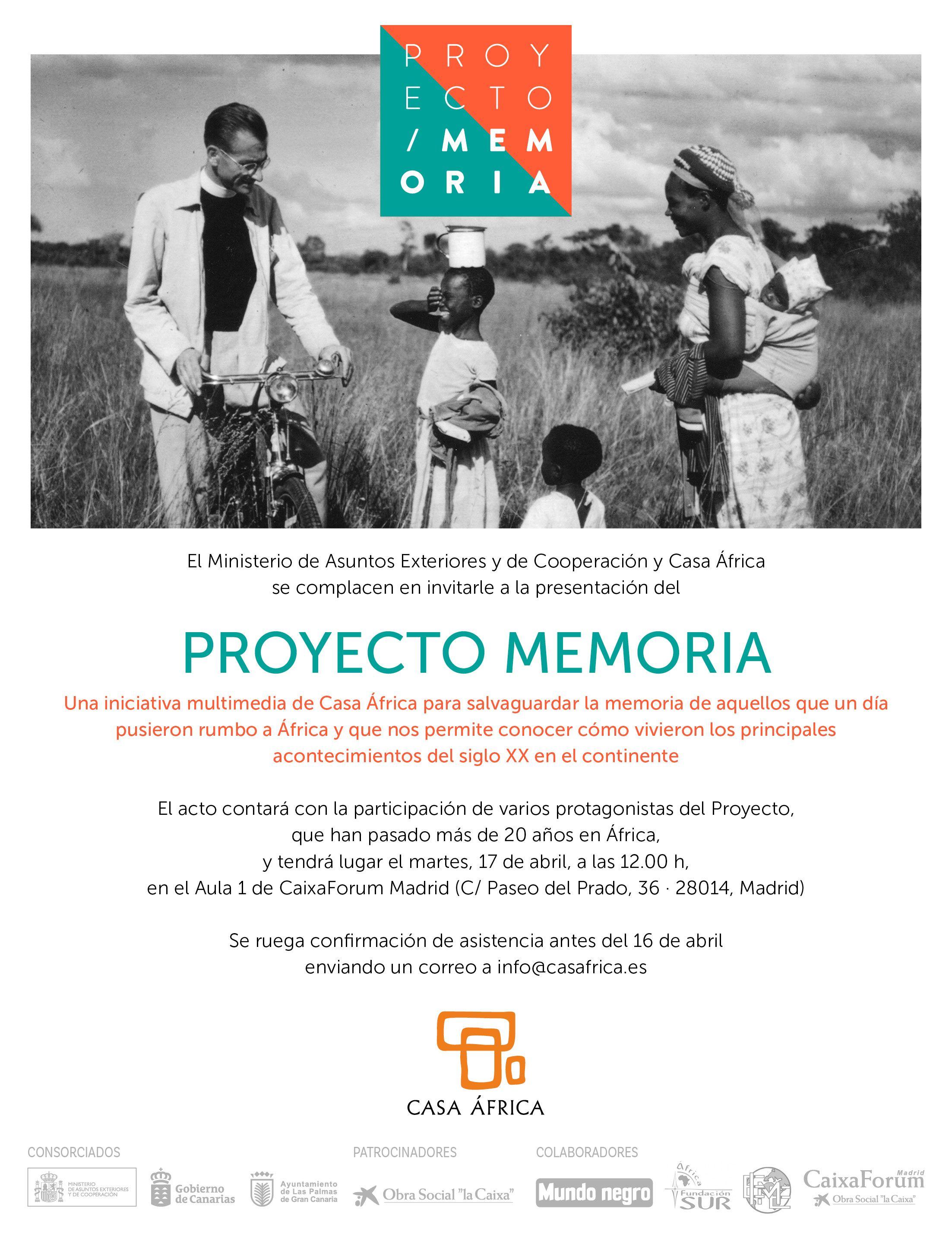 presentación del proyecto memoria casa África