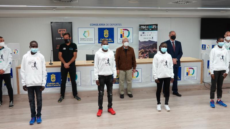 Atletas keniatas en la TransGranCanaria 2021_Rueda de Prensa