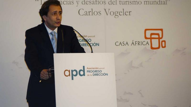 El Secretario Ejecutivo de la OMT, Carlos Vogeler, en Casa África