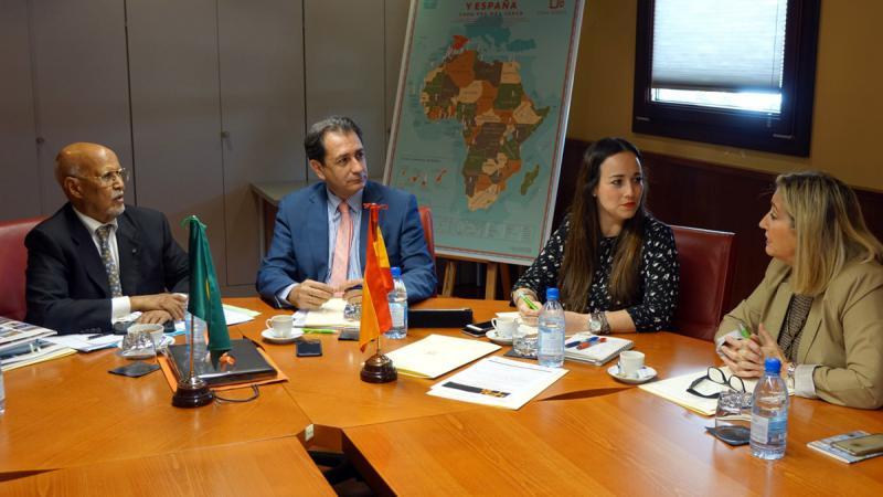 El presidente de la Cámara de Comercio de Mauritania visita Casa África