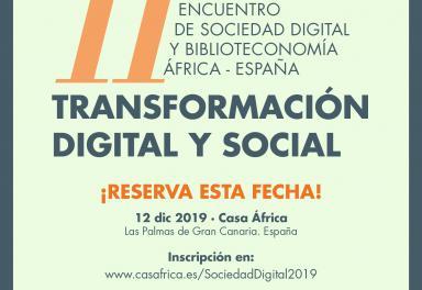 Anuncio en RRSS del XI Encuentro de Sociedad Digital y Biblioteconomía