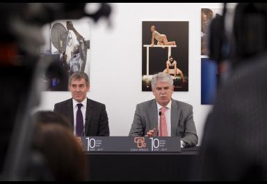 Rueda de prensa de Fernando Clavijo y Alfonso Dastis en Casa África