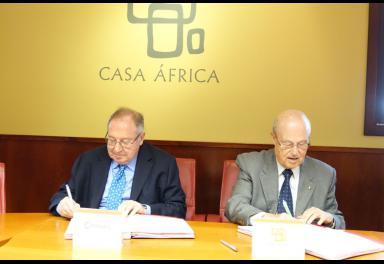 Casa África y la Cámara de Comercio de España firman un convenio para acercar las pymes españolas al continente vecino