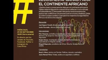 Webinario #ÁfricaEsNoticia «Lecciones afganas para el continente africano»