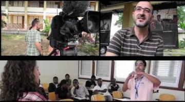 Taller de información cultural con TVE en Guinea Ecuatorial