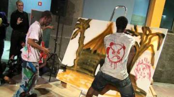 Performance de Mizerables Graff en Casa África