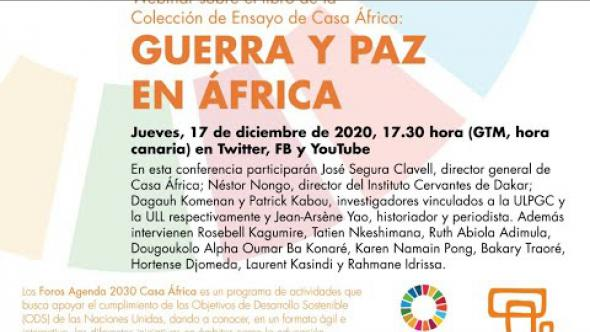 Webinar 'Guerra y paz en África'