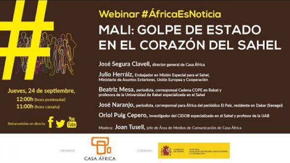 """Vídeo Webinar #AfricaEsNoticia: """"Mali, golpe de Estado en el corazón del Sahel"""""""